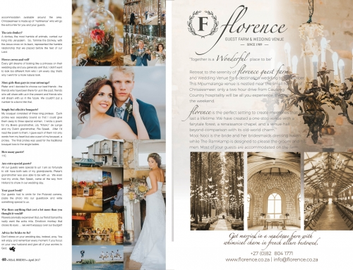 WEDDING FEATURES IN REAL BRIDES MAGAZINE